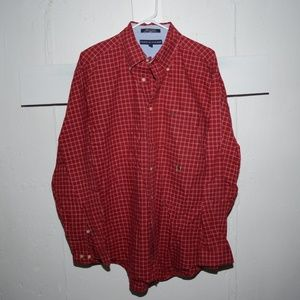 Tommy Hilfiger mens button down shirt size L J87